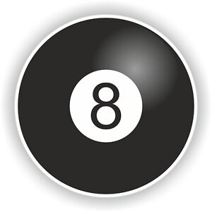 Lucky-8-Ball-Sticker-for-Tablet-Door-Bumper-Roundel-Laptop-Car-Truck-Luggage