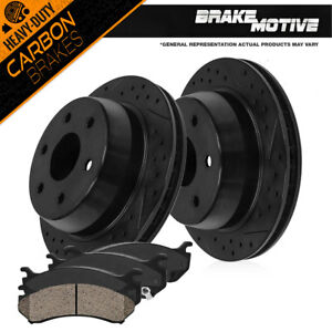 Rear Drill Slot Brake Rotors And Carbon Ceramic Pads For Escalade Yukon Suburban