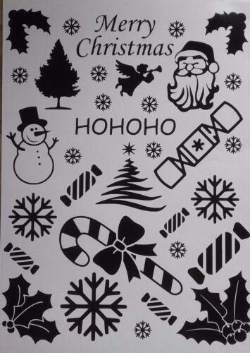 22x Christmas Vinyl Decal Stickers Santa Xmas Car Wall Holly Angel 18 COLOURS