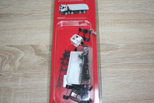 Weiss Herpa Minikit 013024-1//87 Man Tgs M Euro 6 Muldenkipper 4-Achs Neu