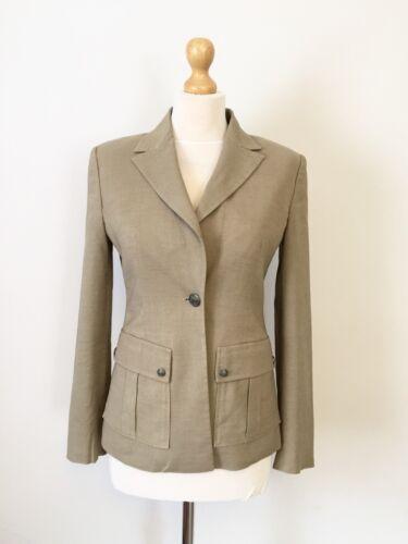 Ladies 8 Designer Jacket Linen Alias Metal Button størrelse Versace PUOdq11