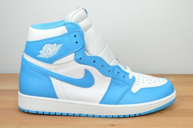 lol tiepido piuma  Nike Air Jordan 1 Retro High OG UNC Size 12 Powder Blue 555088 117 for sale  online | eBay