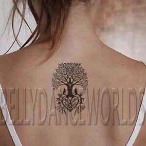 1-SET-OF-2-TREE-OF-LIFE-WOLF-HEART-TEMPORARY-TATTOO-BODY-ART-STICKER-TATOUAGE