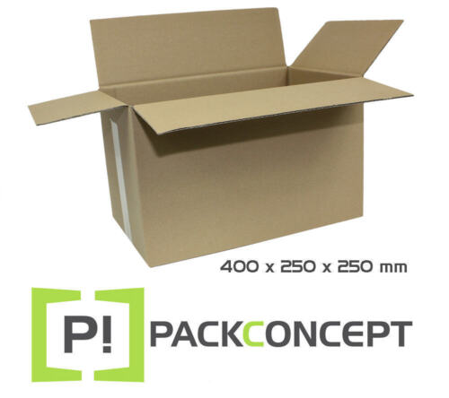Faltkarton 1-wellig 400 x 250 x 250 mm; Karton; Pappkarton; Versandkarton Nr.