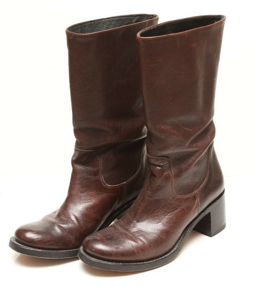 Sendra Woman's Boots Brown Mid-Calf Length Leather Size 6