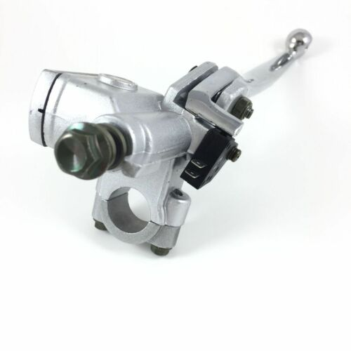 """HYDRAULIC BRAKE MASTER CYLINDER LEVER SILVER LEFT M10 7//8/"""" GY6 SCOOTER VIP TANK"""