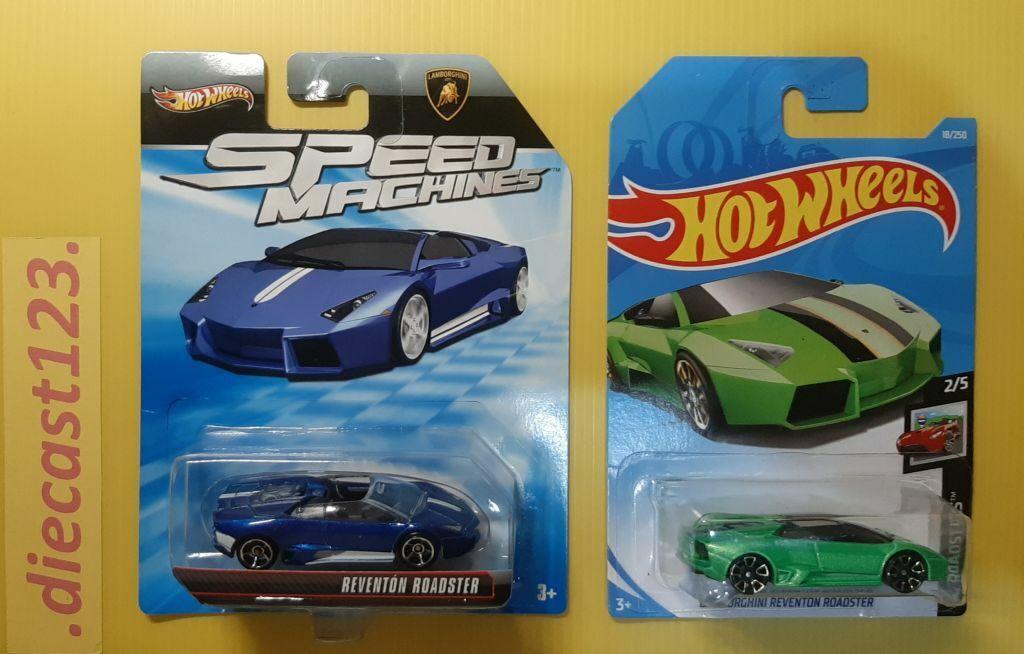 Blue Hot Wheels Speed Machines Lamborghini Reventon Roadster Toys Hobbies Contemporary Manufacture