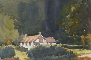Clifford-H-Thompson-1926-2017-A-Pair-of-Watercolours-Rural-Cottages