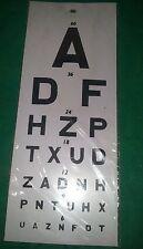 Eye Chart 22 L X 11 W New Snellen Plastic Eye Projectors Amp Chart