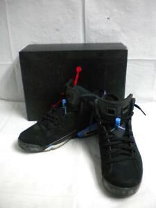 online retailer 1f2f0 ae335 Details about Mens Air Jordan 6 Retro UNC Black University Blue Sz12  384664006 Original Box