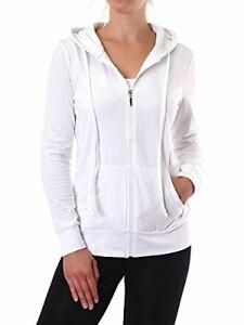Sofra Womens Zip Up Long Sleeve Hoodie