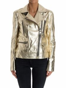 Karl-Lagerfeld-Giacca-pelle-chiodo-Ikonik-odina-biker-jacket-Gold