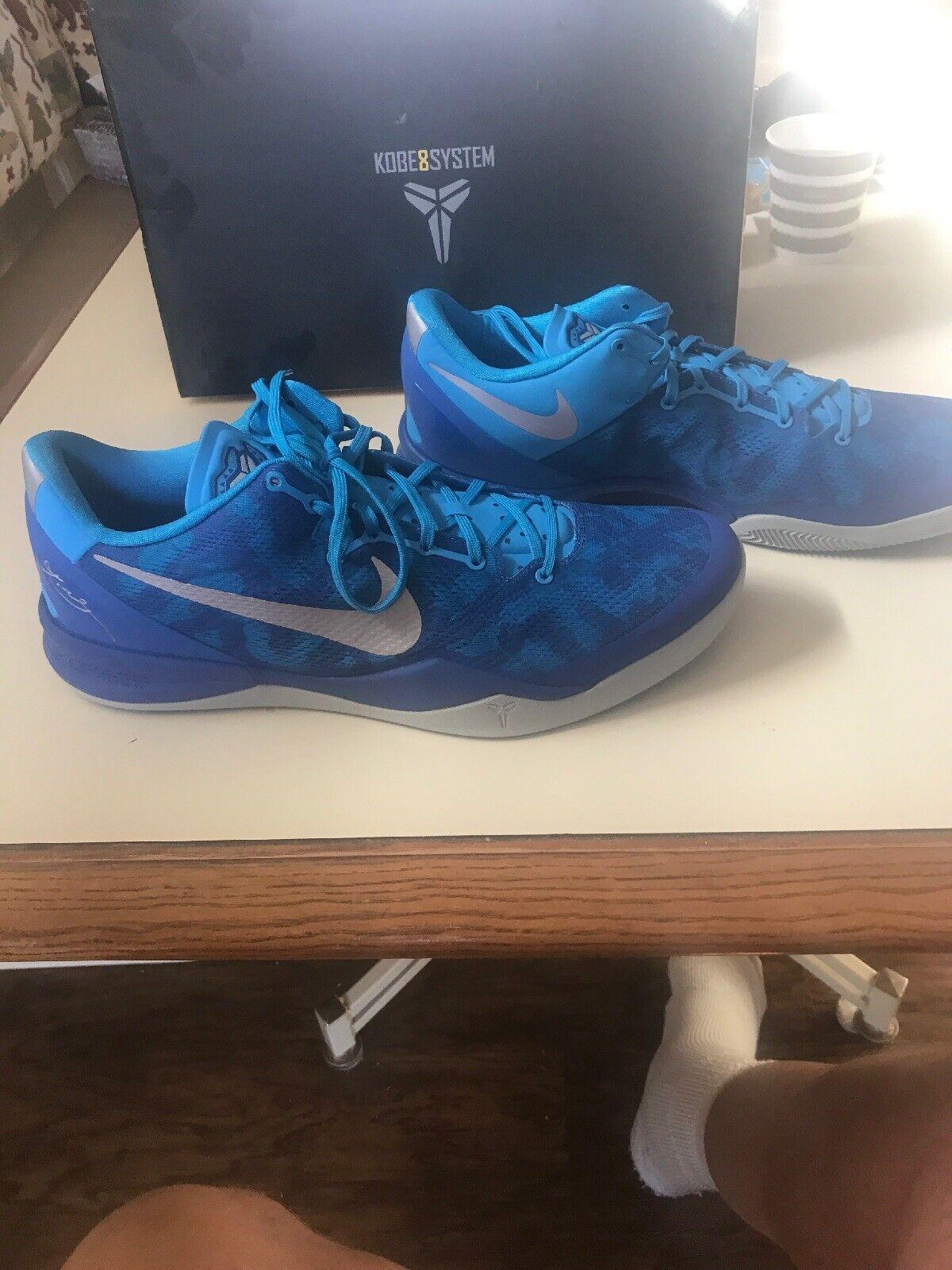 NIKE Kobe 8 VIII System bluee Snake shoes SZ. 15 New In Box