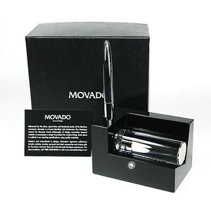 Movado museum business card holder with metal pen dbk000212m 15000 image is loading movado museum business card holder with metal pen colourmoves Images