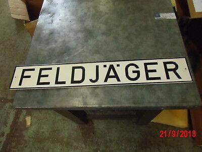 Pflichtbewusst Schild FeldjÄger / Vers.nr 9905-12-146-0994