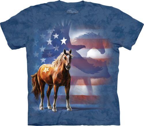 Wild Star Drapeau Cheval T Shirt Adulte Unisexe The Mountain