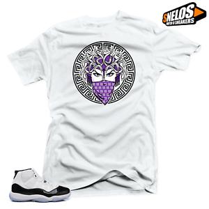 c2abd50458dde2 T-Shirts Shirts Shirt to Match Jordan 11 Concord-Medusa 45 White Tee