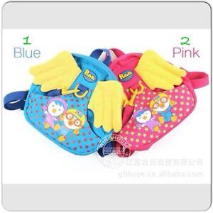 Pororo-Little-angel-wings-baby-penguin-backpacks-kindergarten-with-harness-bags