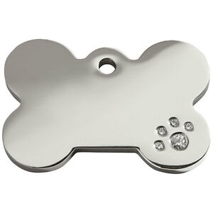 Engraved-Personalised-Dog-ID-Tags-discs-Diamante-Bone-by-Red-Dingo-8BN