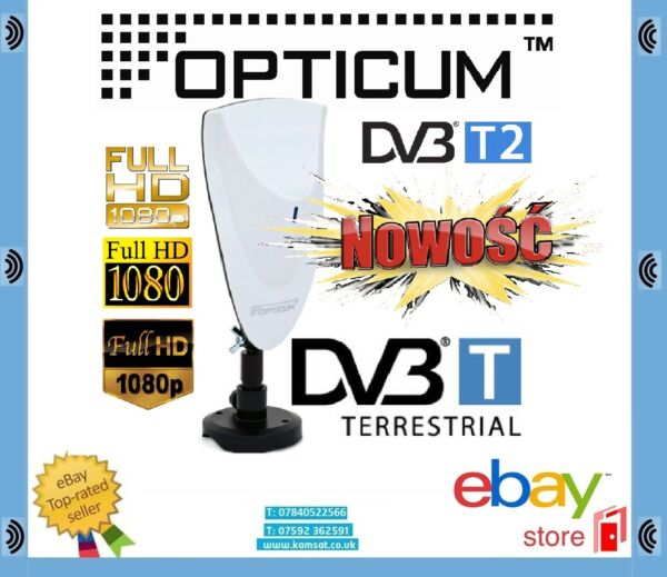 2019 Nieuwste Ontwerp Digital Hd Tv Antenna Opticum Ax700 Dvb-t Terrestrial 9db Fm Dab Klanten Eerst
