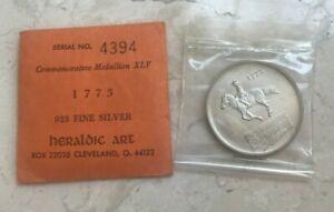 Heraldic Art Sterling Silver .925 Medal - 1773