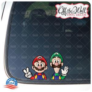 Mario and Luigi Printed Die-cut Vinyl Decal Sticker