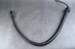 Genuine-Leather-BDSM-Bull-Whip-Flogger-whip-nagayka-In-Black-Dragon-Tail