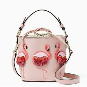 Women-s-Flamingo-Pink-Purse-Crossbody-Leather-Bucket-Bag-Beach-Tote-Handbag-NEW