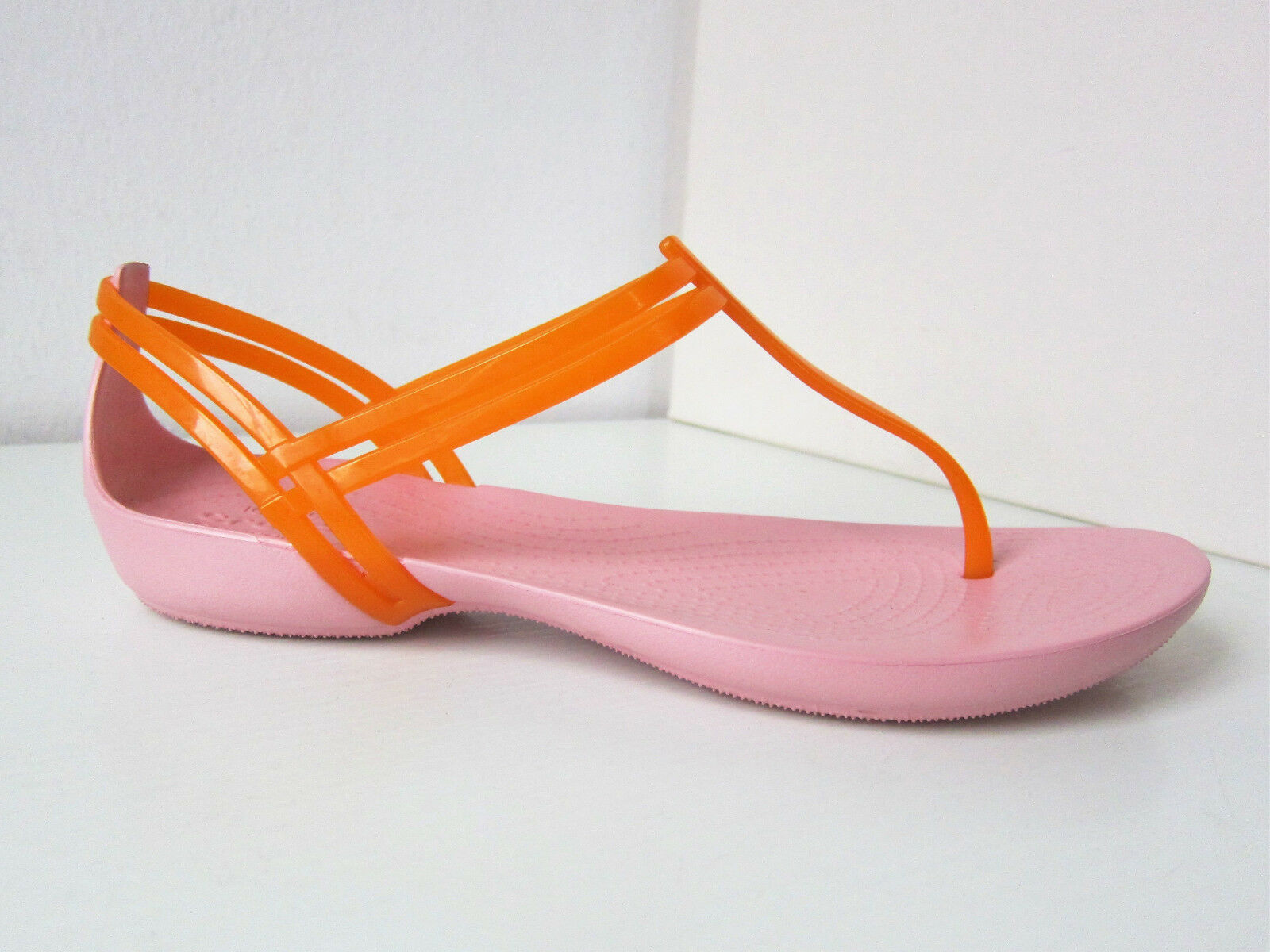 Crocs isabella t-strap Sandale orange W 9  39 40 sandals shoes thongs petal pink