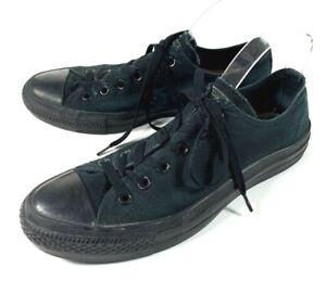 Details about Converse Chuck Taylor All Star Mens Size 8 Monochrome Black Low Top Canvas Shoes