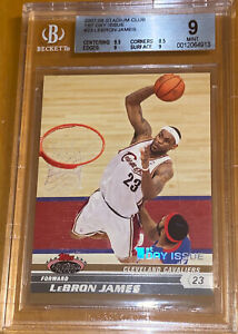 2007-08-LeBron-James-TOPPS-STADIUM-CLUB-1st-DAY-ISSUE-1999-23-PSA-10-BGS-chrome