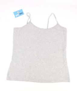 Esmara-Womens-Size-22-24-Cotton-Blend-Strappy-Grey-Camisole-Regular