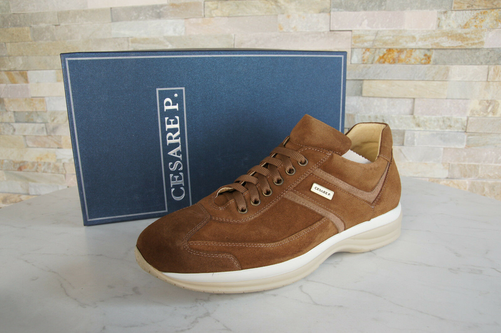 Cesare P.Paciotti 40 6 Sneakers Lace up shoes Easy Beige New