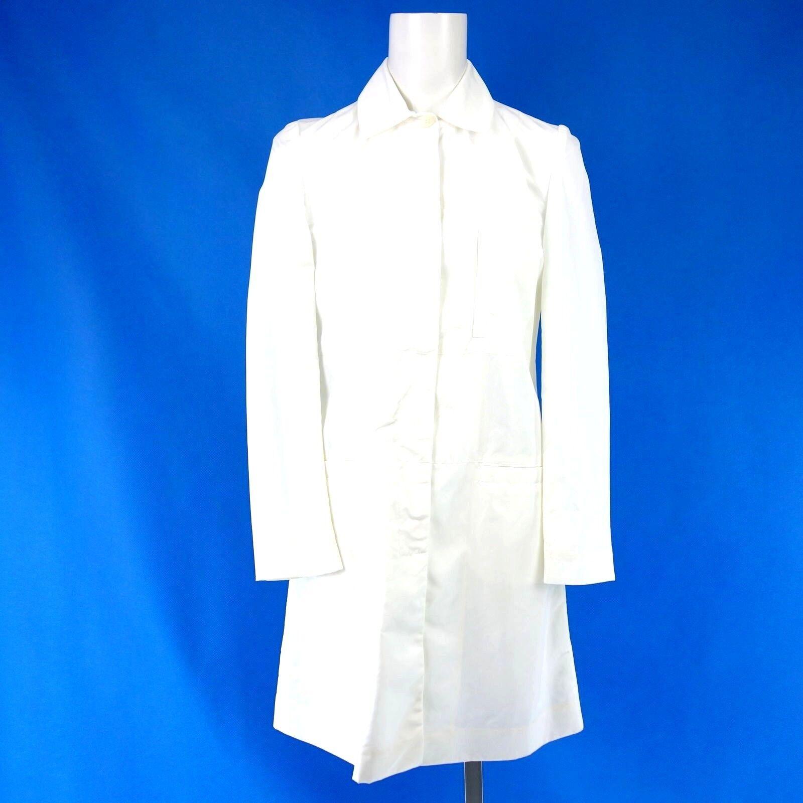 Bettina Schoenbach Women's Coat Size 36 38 White Summer short Nylon New