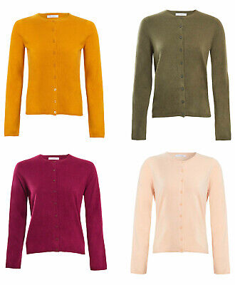 M/&S Marks /& Spencer Collection Ladies Cardigan Long Sleeve Round Neck Size 6-22
