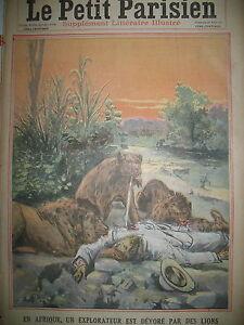 AFRIQUE-MORT-EXPLORATEUR-HOLSTEIN-CRIME-MILLIARDAIRE-U-S-LE-PETIT-PARISIEN-1911