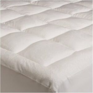 Pinzon Filled Stuffed Soft Microplush Mattress Pad King Bed Pillow Top Cover Bas