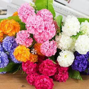 Eg-9-Kuenstliche-Hortensie-Seide-Blumengesteck-Hochzeitsparty-Wohndeko-Lov