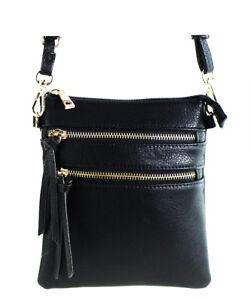 New Functional Multi Pocket Crossbody Bag 80808A,BLACK,W