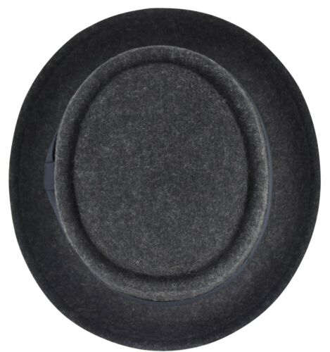 Round Top Crushable Stingy Brim Hat FHe09 Men/'s Felt Wool Fedora Porkpie Hat