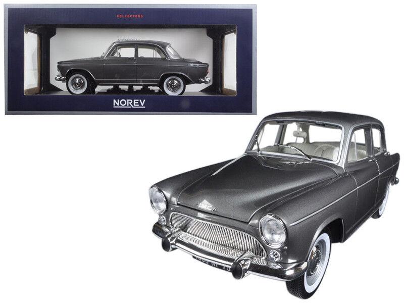 1962 simca aronde montlhery besondere grau metallic 1   18 - modell - auto von norev 185717