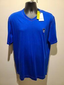 NEW-Robert-Graham-Classic-fit-Blue-Short-Sleeve-T-Shirt-Men-039-s-Large-A144
