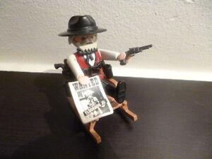 playmobil western sheriff im schaukelstuhl mit pistolen ebay. Black Bedroom Furniture Sets. Home Design Ideas