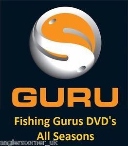 Guru Fishing Gurus DVD's, All Seasons / 1, 2, 3, 4, & 5 Carp,Chub,Tench,Barbel