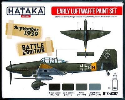 Hataka Hobby Paints EARLY GERMAN LUFTWAFFE COLORS Acrylic Paint Set