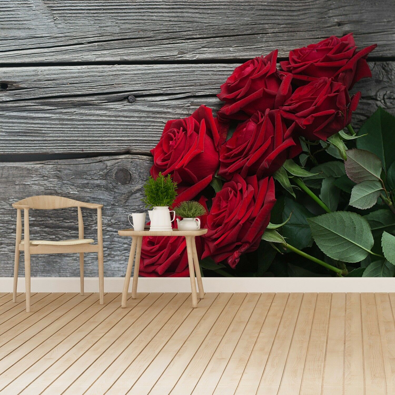 Fototapete Selbstklebend Einfach ablösbar Mehrfach klebbar Rote Rosen