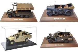 Lot De 4 Vehicules Militaires Atlas 1/43 Seconde Guerre Mondiale Ww2- Tank Char