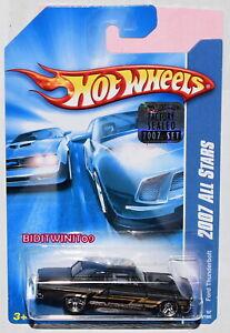 #143 Hot Wheels 2007 All Stars FORD THUNDERBOLT Black
