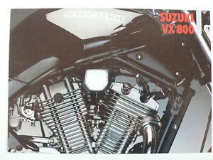 Consciencieux Prospectus Suzuki Vx 800, Environ 1990, 4 Pages-afficher Le Titre D'origine Service Durable