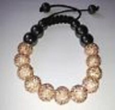 Precioso Brillante Peach Shamballa Pulsera - 11 Disco beads-czech crystal-uk vendedor